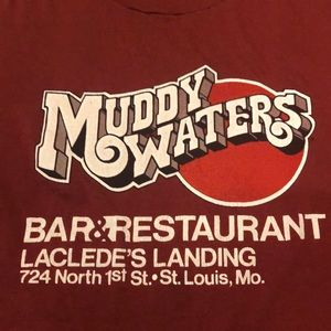 Hanes Shirts - Vintage Muddy Waters Old School T-Shirt Size L